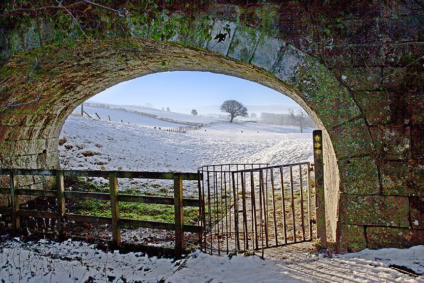 Sedgwick canal lancaster kendal westmorland bridge snow lake district