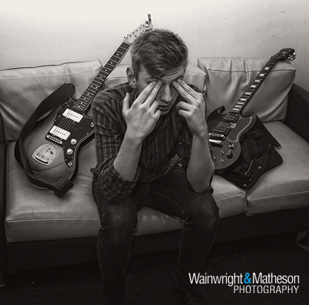 Jack Corcoran Shooting Pigeons Manchester guitar backstage