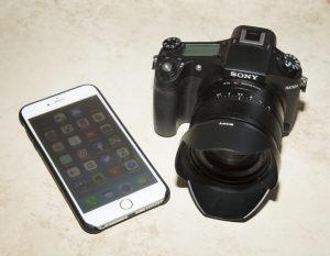 smartphone and camera