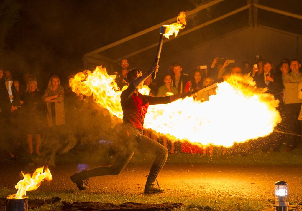 fire performer event